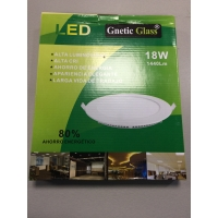 PANEL LED 18 W  GNETIC GLASS